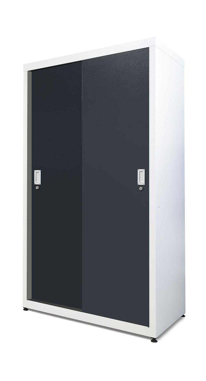 Full Height Sliding Door Shelved Cabinet 1000mm Wide