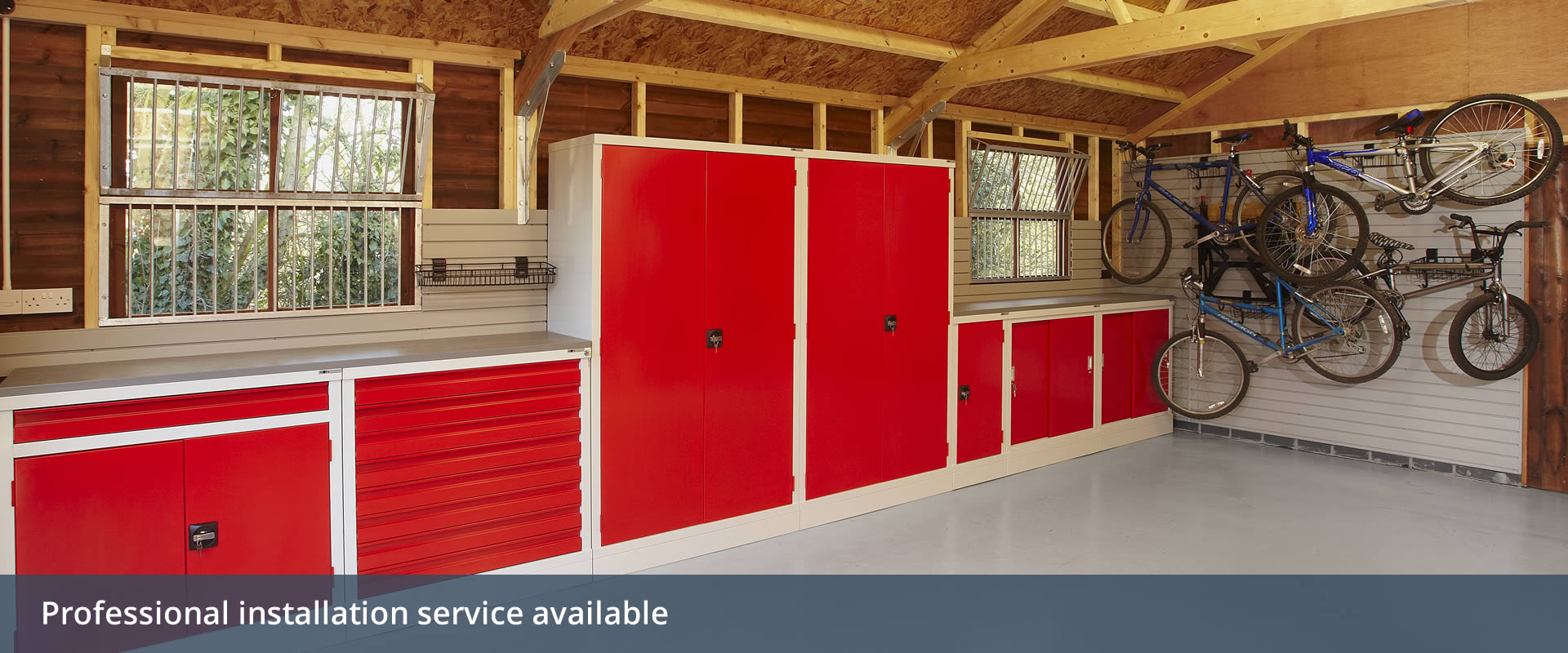 Garage Cabinets And Workbenches From Ikon Garage Interiors
